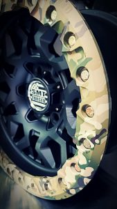 SMT American Forged Off Road Wheels RS6 with camouflage ring