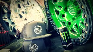 SMT American Forged Off Road Wheel RS8 Chrome and green powder coat
