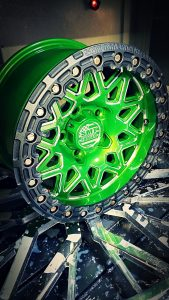 SMT American Forged Off Road Wheel RS8 green powder coat