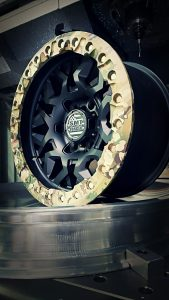 SMT American Forged Off Road Wheels for Jeeps and Trucks RS6 All Black with Camouflage Ring