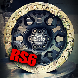 SMT American Forged off road wheels RS6 with camouflage beadlock