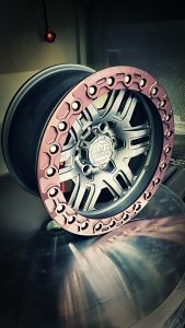 SMT American Forged Off Road Wheels RS5 with cherry cast grey powdercoat ring